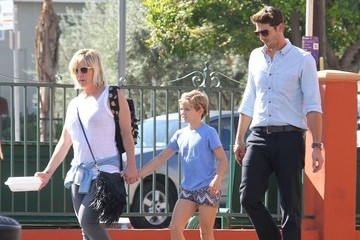 Fiona Facinelli Jennie Garth and Dave Abrams Take Her Daughter Out for Lunch