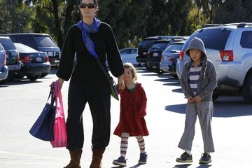 Frances Roy Carrie-Anne Moss Takes Her Kids To The Farmers Market