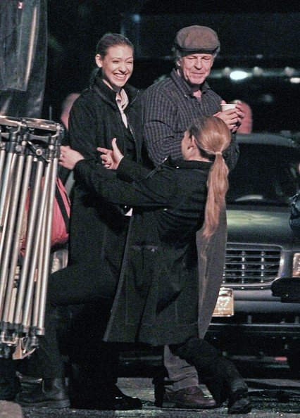 The cast of science fiction TV series 'Fringe' are pictured filming night scenes in Vancouver.