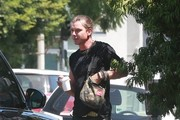 Gavin Rossdale Takes His Dog For a Walk