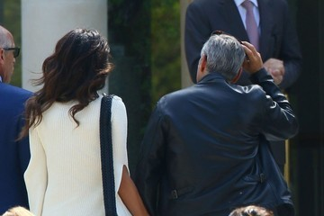 George Clooney George Clooney and Wife Amal Alamuddin Arrive at the Hotel Du Cap
