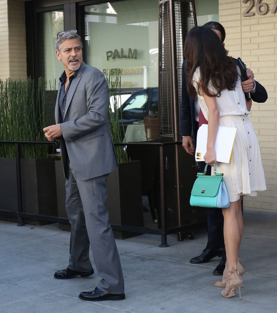 George Clooney and Amal Alamuddin Lunch in Beverly Hills ...