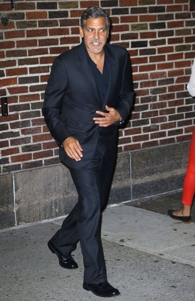 George Clooney leaving the late show Stephen Colbert 8th September 2015 George+Clooney+Celebs+Making+Appearance+Late+-MZpbU9gK9Jl