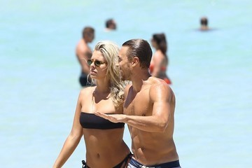 Gilles Souteyrand Devin Brugman and Natasha Oakley Enjoy a Day at the Beach