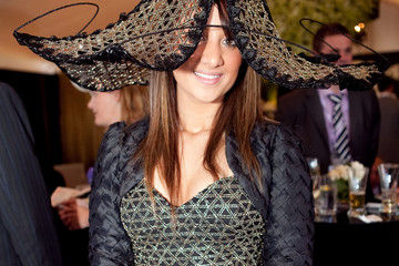 Nicole DeSilva Guests Attending The Age Caulfield Cup Guineas Day In Melbourne