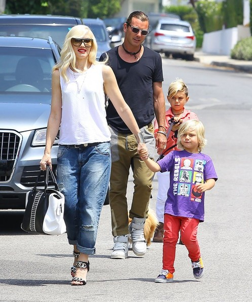 Gwen Stefani and family