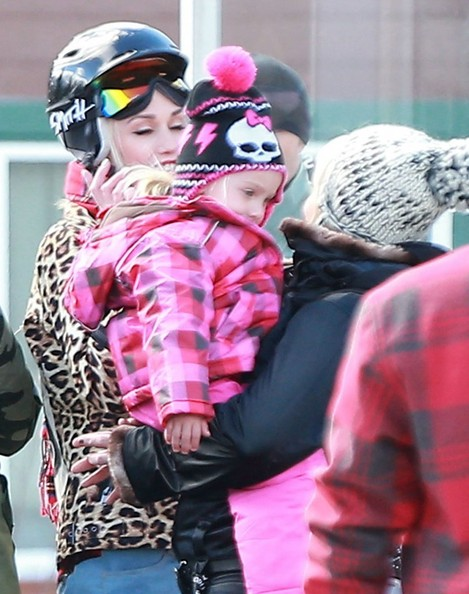 Pink Carries Willow In Snowy Mammoth
