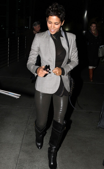 Actress Halle Berry, 41, leaves Barefoot Cafe in Hollywood, CA, after ...