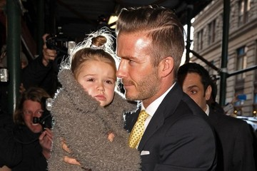 Harper Beckham David & Victoria Beckham Lunch In NYC