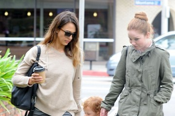 Haven Warren Jessica Alba & Daughter Haven Have A Busy Morning