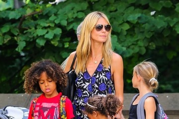 Heidi Klum Heidi Klum Takes Her Kids To The Central Park Zoo