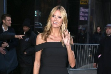 Heidi Klum Celebs Visit 'Good Morning America'