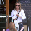 Makena Carnahan Helen Hunt And Daughter Out For Dinner In Brentwood