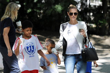 Henry Samuel Heidi Klum Takes Her Kids To Their Soccer Game