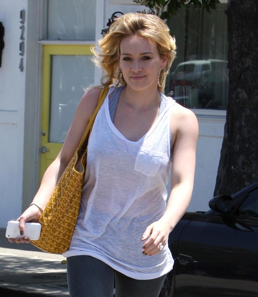 Hilary Duff Actress Hilary Duff seen leaving the Byron & Tracey Salon after getting her hair done in Beverly Hills, CA.