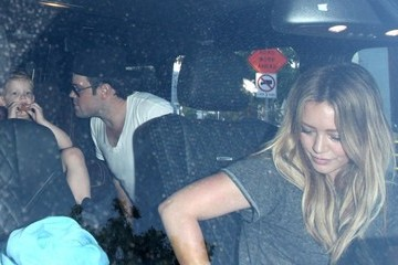 Hilary Duff Mike Comrie Hilary Duff and Mike Comrie Take Their Son to Dinner
