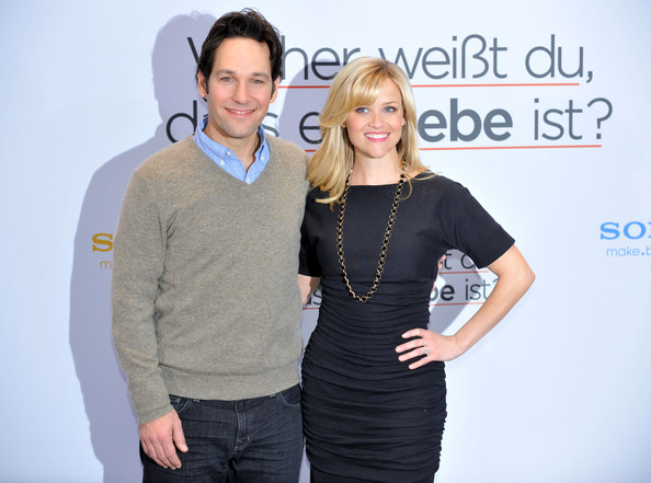 "Actress Reese Witherspoon and actor Paul Rudd attend the ""How Do You Know"" photo call in Berlin."