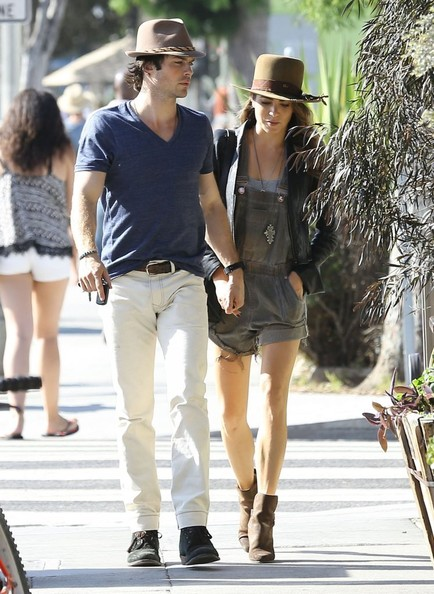 Ian Somerhalder - Nikki Reed & Ian Somerhalder Out For Lunch In West Hollywood