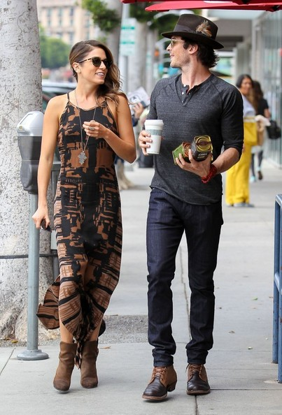 Ian Somerhalder - Nikki Reed and Ian Somerhalder Stop for Coffee