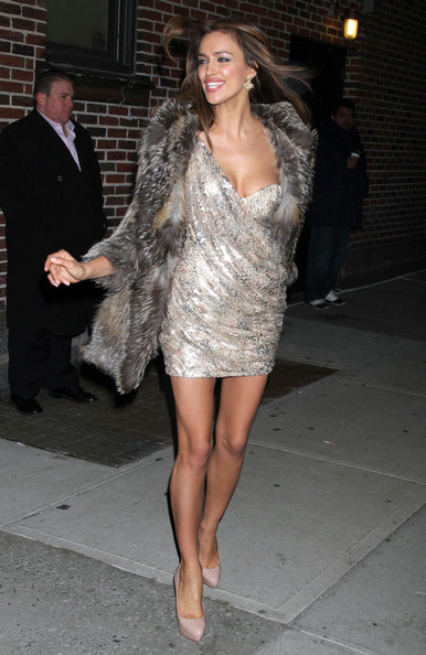 Irina Shayk In David Letterman