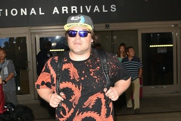 Jack Black Jack Black Touches Down at LAX