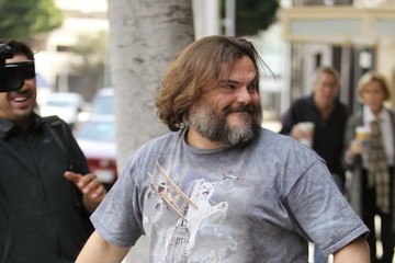 Jack Black Jack Black Has Some Fun With Photographers in Beverly Hills