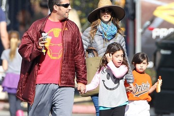 Jackie Sandler Adam Sandler & Family Leaving His Daughters Softball Game