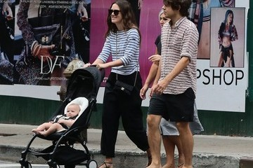 James Righton Keira Knightley & James Righton Take Edie For a Walk