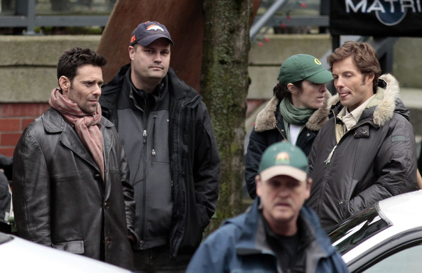 "James Callis On Set Of ""17th Precinct"" []"