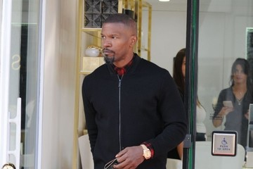 Jamie Foxx Jamie Foxx Goes Out With a Friend in Beverly Hills