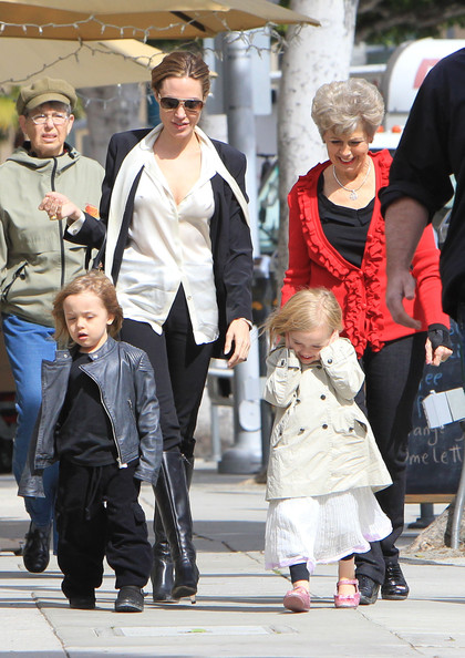 Angelina Jolie Takes Her Twins Shopping []