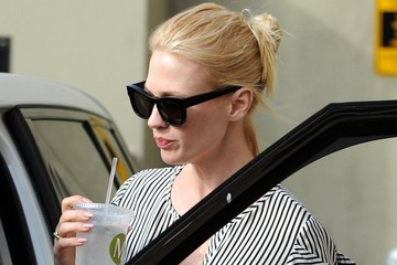 January Jones January Jones Lunches in Brentwood