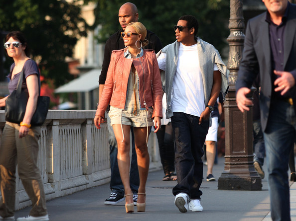 Jay-Z Singer Beyonce and her husband Jay-Z leave their hotel in Paris and go for a walk around town. Beyonce got an ice cream cone.