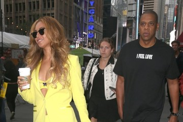 Jay-Z Beyonce Knowles Beyonce and Jay-Z Out in NYC
