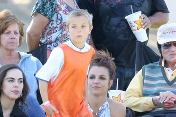 Jayden Federline Britney Spears Watches Her Boys Play Soccer
