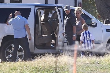 Jayden James Federline Britney Spears & David Lucado Watching Her Sons Play Soccer