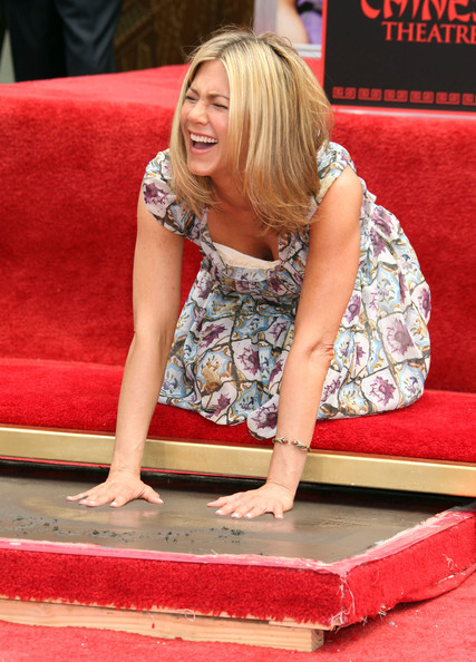 Actress Jennifer Aniston attending her Hand and Footprint ceremony outside the Grauman's Chinese Theatre, Hollywood, CA. Also in attendance were Jason Bateman, Chelsea Handler and Jennifer's new love interest Justin Theroux.