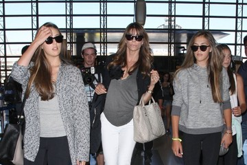Jennifer Flavin Sistine Stallone Sylvester Stallone & Family Departing On A Flight At LAX