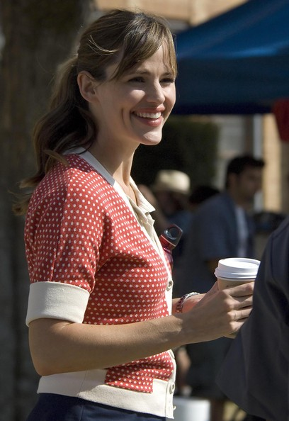 Jennifer Garner On The Set Of 'Valentine's Day' 2