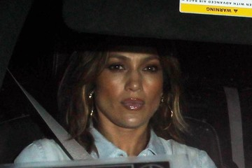 Jennifer Lopez Celebrities Dine Out at Craig's Restaurant