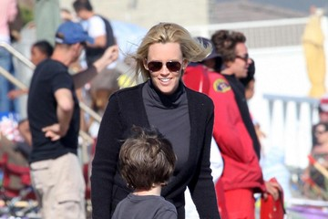 Evan Asher Jenny McCarthy And Family On The Beach In Malibu