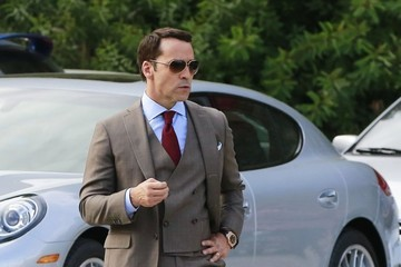 Jeremy Piven 'Entourage' Films In Hollywood