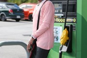 Singer Jermaine Jackson is spotted out pumping gas with friends in Los Angeles, California on January 23, 2016.