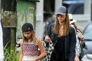 Actress Jessica Alba was spotted doing some shopping with a group of friends as well as her daughters Honor and Haven Warren while on holiday in Hawaii on December 28, 2016.