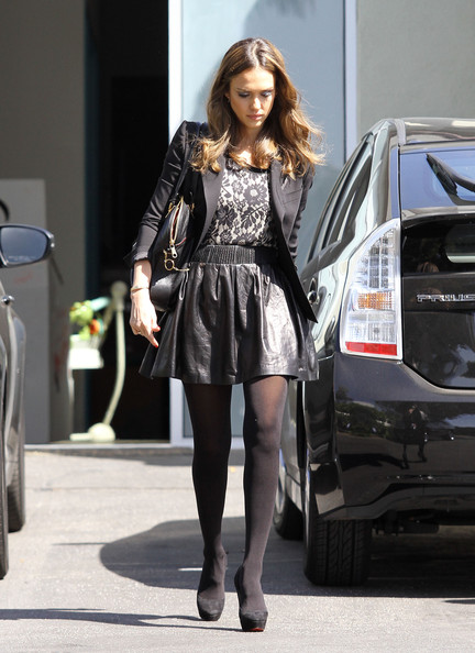 jessica alba out and about in santa monica zimbio