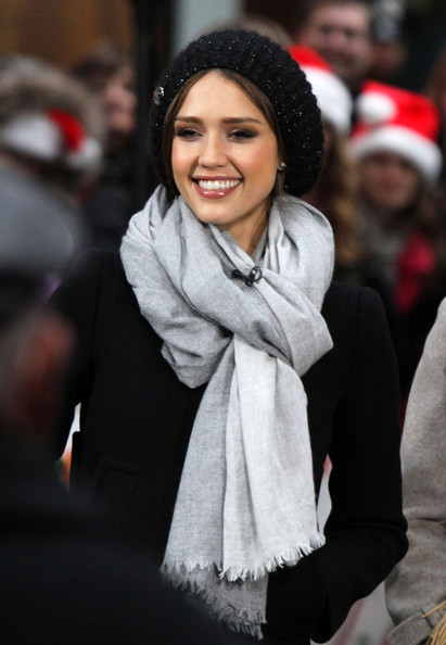 Actress Jessica Alba tapes a segment for 'TODAY' show in New York.