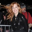 Jessica Chastain Braves the Wind in NYC
