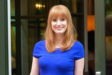 Jessica Chastain Looks Brilliant in Blue
