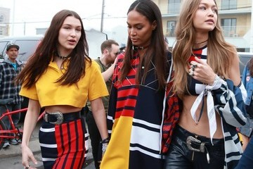 Joan Smalls Bella Hadid Models Rehearse for the Tommy Hilfiger Fashion Show in Santa Monica