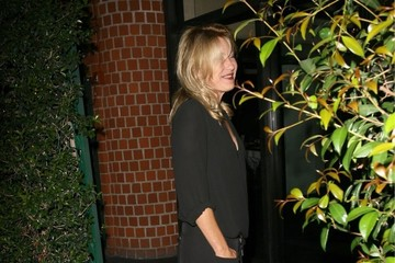 Joey Lauren Adams Celebs Get Dinner in Beverly Hills